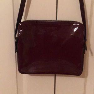 Banana republic maroon patent leather purse